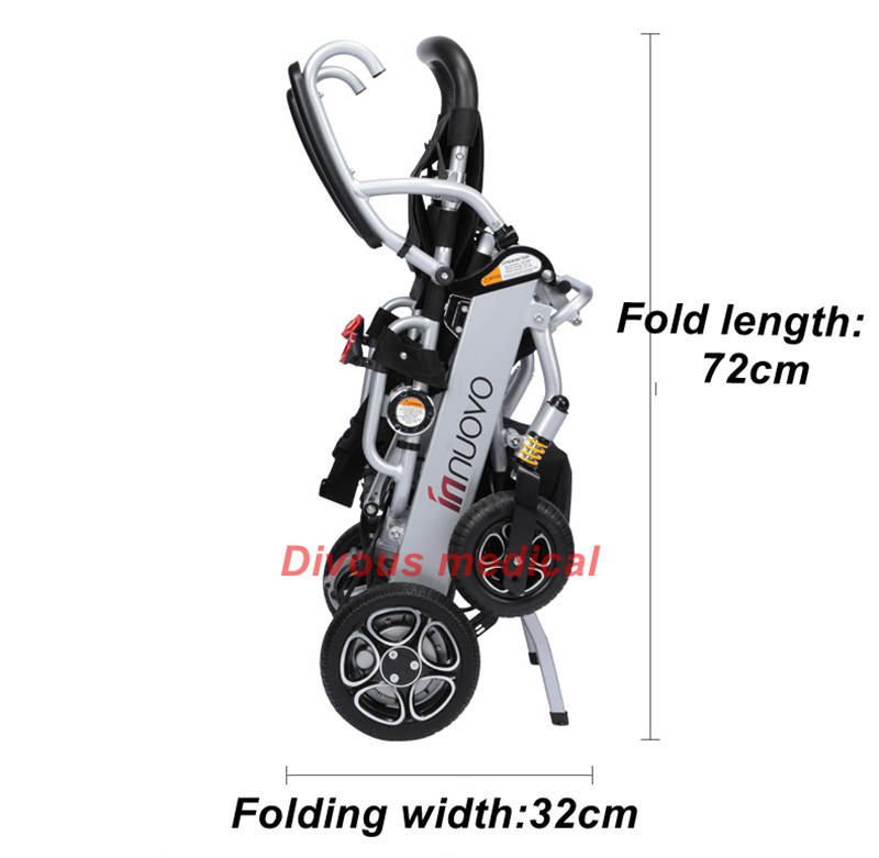 Free shipping lightweight Portable foldable travel could carry on airplane Aircraft electric wheelchair