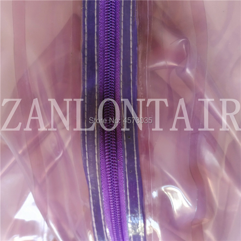 Image 5 - sexy handmade women female unisex exotic transparent purple latex inflatable full breath hole hoods mask cekc lingerie uniform-in Teddies & Bodysuits from Novelty & Special Use