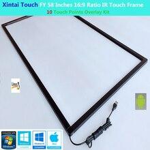 Xintai Touch FY 58 인치 10 터치 포인트 16:9 비율 IR 터치 프레임 패널 플러그 앤 플레이 (유리 없음)