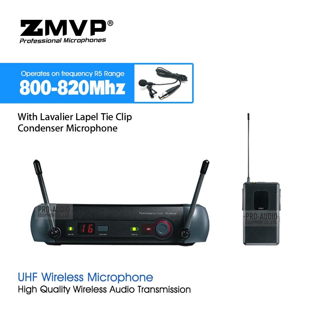 ZMVP PGX14 UHF système de Microphone sans fil karaoké professionnel avec PGX Bodypack transmetteur revers Lavalier Clip Mic 800-820 Mhz