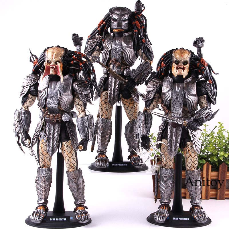 1/6 Hot Toys AVP Alien Vs Scar Predator PVC Collection Model Toy Ver. 2.0 MMS190 Action Figure