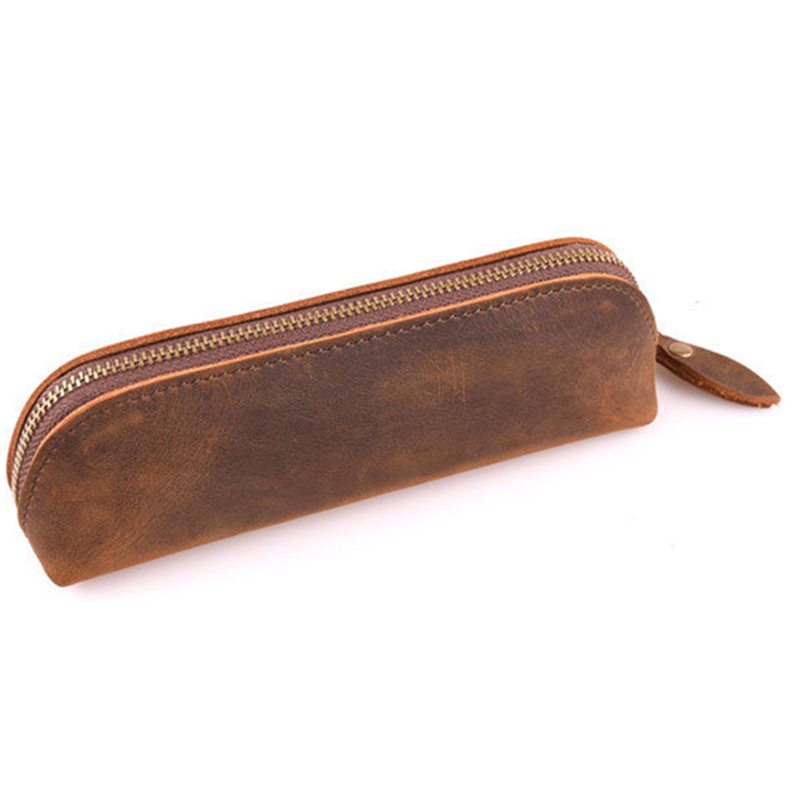 1pc Retro Vintage Genuine Leather Pen Pencil Bag Holder Storage Zipper Pouch Travel Diary Pen Cover Office School Supplies Gifts1pc Retro Vintage Genuine Leather Pen Pencil Bag Holder Storage Zipper Pouch Travel Diary Pen Cover Office School Supplies Gifts