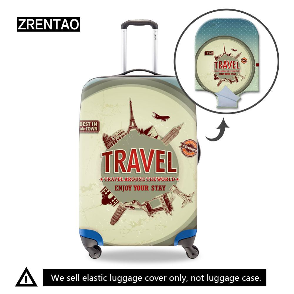 Good Quality Travel On Road Luggage Suitcase Cover HolidayAccessories Water Resistant Elastic Dust Bag Fit 18''-32''Trolley Case