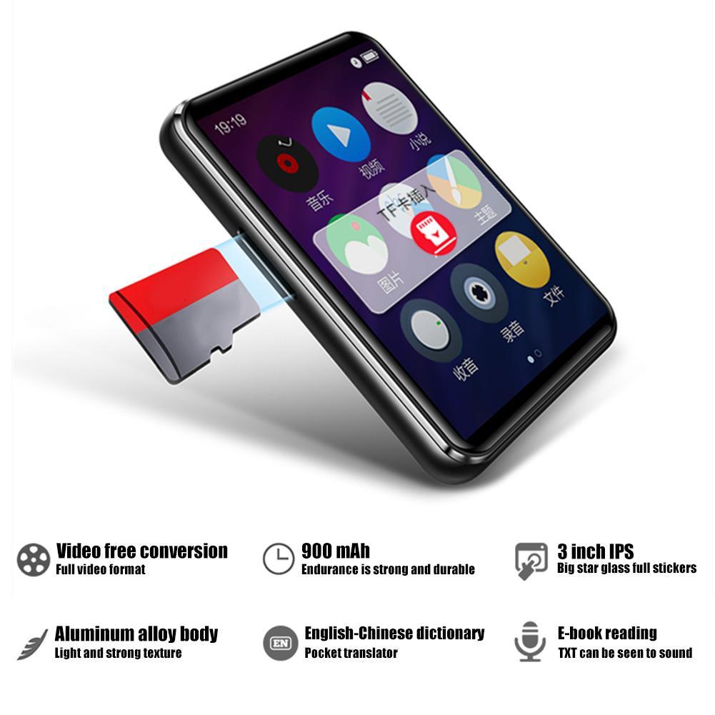 X6 lecteur MP3 MP4 lecteur écran tactile HiFi Mini Mp 3 lecteur Support TF carte FM Ebook enregistreur Boombox anglais écoute 4G/8G