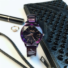 More Colors Korea Hot Style Quartz Watch for Women Delicate Fashion Simple Gold Steel Strap Star Sky Dial Gift