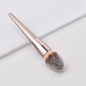 Image 4 - Kit de pinceaux de maquillage de luxe, couleur Champagne, pour poudre de fond de teint, fard à paupières, correcteur, lèvres et yeux, brosses pour produits cosmétiques, accessoires de beauté