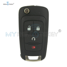 Remtekey OHT01060512 3 button with panic flip key shell for Chevrolet Equinox Sonic Trax 2010 2011 2012 2013 2014 2015 2016 2017 for chevrolet camaro bumblebee spoiler primer unpainted abs material 2010 2011 2012 2013 2014 2015