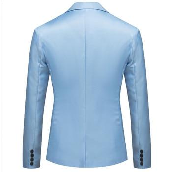 Suit Men Jacket 2019 New Men Handsome Young Student Small Suit Slim Fit Blazer Men Fashion Business Casual Dress Blazer Coat 1