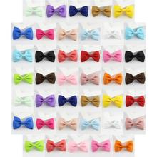 40Pcs Colorful Ribbed Ribbon Bow Hair Clips Simple Claw Barrettes Clothing Accessories For Girls