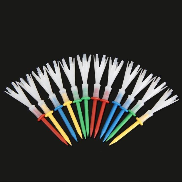 4 מטרים Gonkux 12 יח'\סט מעורב צבעים פלסטיק 2 3/4 אינץ גולף טיז פוליפרופילן כרית למעלה גולף טי גולף אבזרים