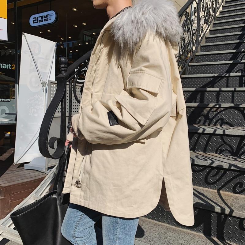 Hommes Grande Simple Unie Automne Lâche De Nouvelle Mode Veste Et Hiver Vêtements red apricot Sauvage Jeunesse Black Coton Boutique Décontractée Taille Chaud Couleur 8qqIw4