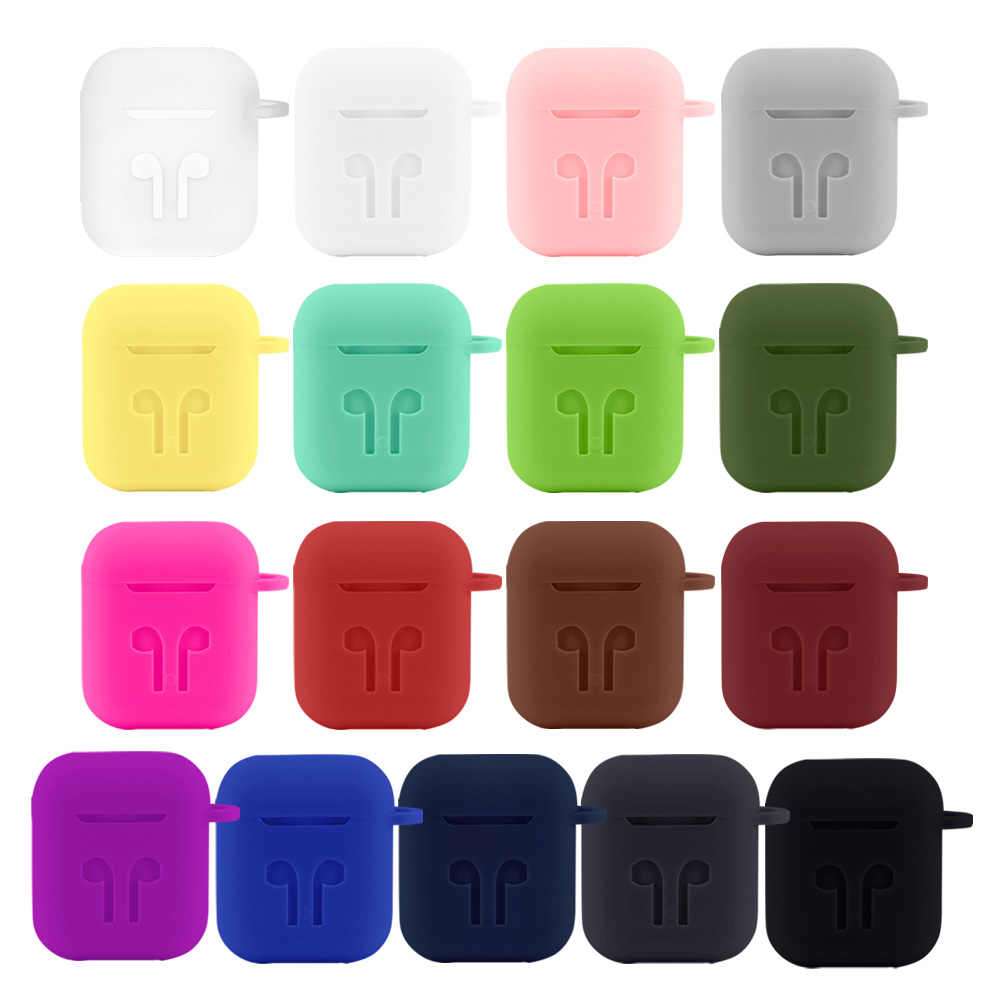 DISOUR NEW Soft Silicone Earphone Case For Airpods Proteciver Cover Skin Accessories For Apple AirPod 2 Charging Box Shockproof