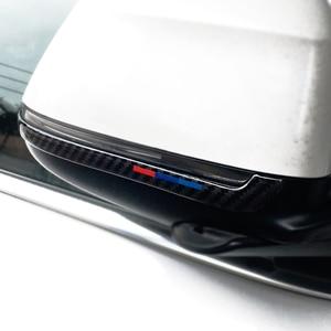 Image 5 - Für BMW X3 X4 X5 X6 F25 F26 F15 F16 2PCS Carbon Fiber Auto Rückspiegel Anti kollision streifen Anti reiben Abdeckung
