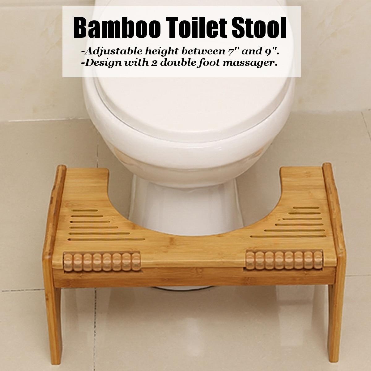 En bois épaissir rond toilette pied tabouret maison croupe trou banc outil personnes âgées Constipation Assistant salle de bains pot étape pied tabouret