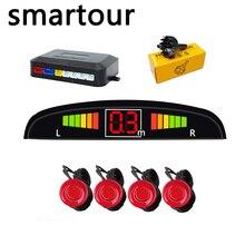 Smartour 22 millimetri Auto Sensore di Parcheggio del Monitor Kit Reverse Backup Radar Alert Audio Indicatore Sonda Sistema 12 V Nero Bianco argento