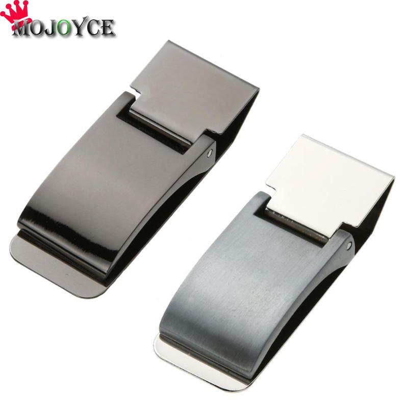 1pc Useful Metal Stainless Steel Money Clip Holder Folder Collar Clip Decor