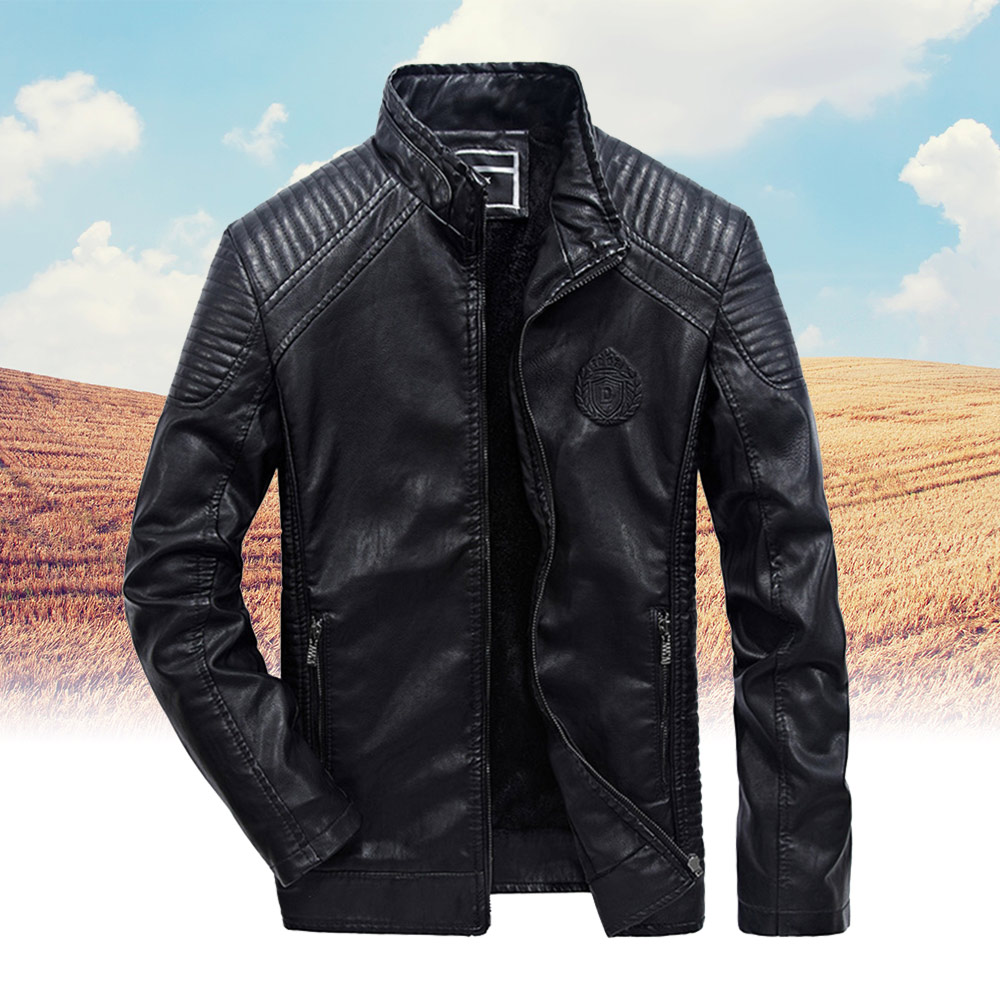 Racing Motorcycle Leather Jacket Winter Motorbike Clothing Protector Waterproof Moto PU Leather Motor Jacket
