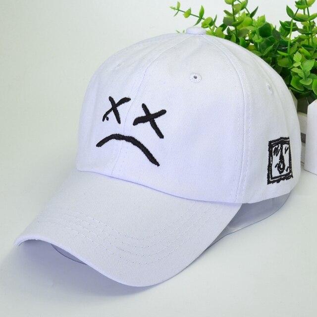 Funny Sad Face Hat Hip Hop Cap Women Men Dad Hat Embroidery Cotton Baseball Cap Golf Love Snapback Sun Hats Black Pink Caps