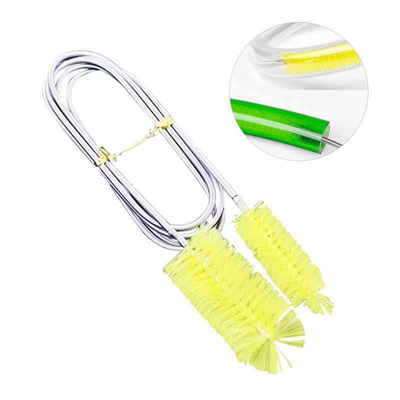 Aquarium Cleaner Stainless Flexible Cleaning Brush Double Ended Canister Filter Tube Hose Pipe Clean For Fish Tank Aquarium