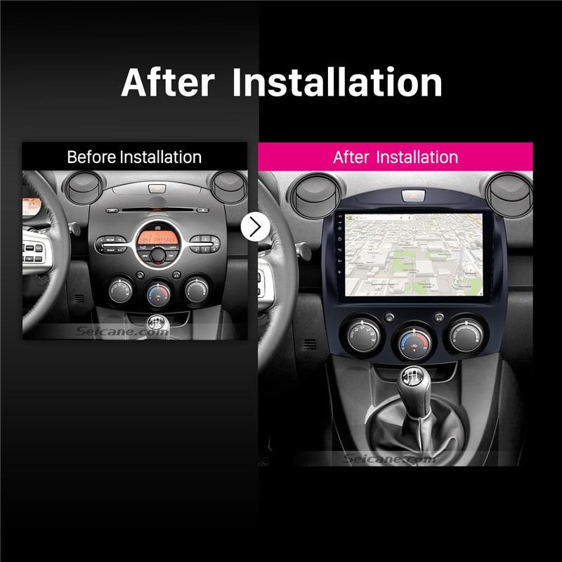 "Image 5 - Seicane Android 8.1 For MAZDA 2/Jinxiang/DE/Third generation 2007 2013 2014 Car Radio GPS 9"" 2Din Unit Multimedia Player 3G wifi-in Car Multimedia Player from Automobiles & Motorcycles"