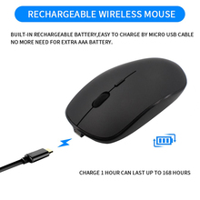 Wireless Mouse Rechargable Dpi 1600 Blackvertical Mice Three Devices Connection/Girl