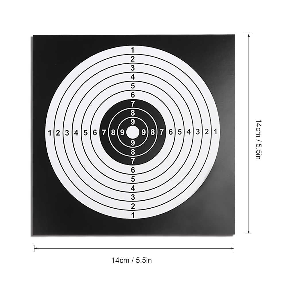 100 PCS Target Paper Paintball Target Posters Square Shooting Practice Paper Hunting Shooting Target Sheet 14X14CM Bow & Arrow
