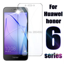 Protective glass on for Huawei honor 6x 6a 6c Pro tempered glas film x6 a6 c6 6cpro tremp 6 x c a Plus screen protector 6plus(China)