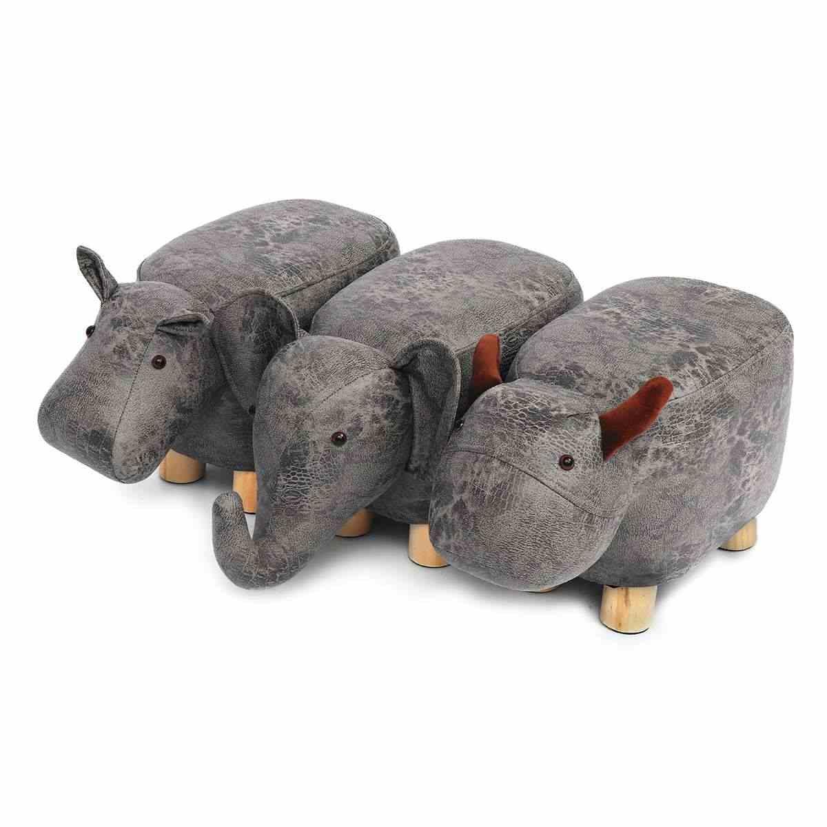Табуреты для ног в форме животных otomans обувь для дивана мягкая подушка Pouffe табуреты для отдыха домашняя мебель для детской спальни Декор 50x28x24 см