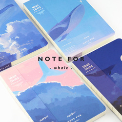 NOTE FOR Whale Island Series A5 Japanese Kawaii Notebook 100G Paper Blank Pages Sketch Book DIY Diary Drawing Book Gift