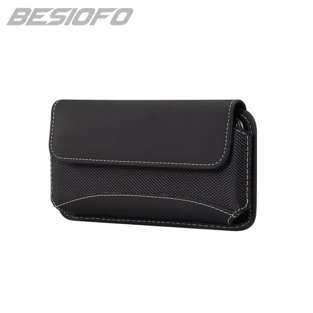 Caja del teléfono con cinturón de cintura con clip bolsa Durable bolsa de tela Oxford Horizontal para Samsung Galaxy J2 J3 J4 J5 J6 J7 J8 2017 J9