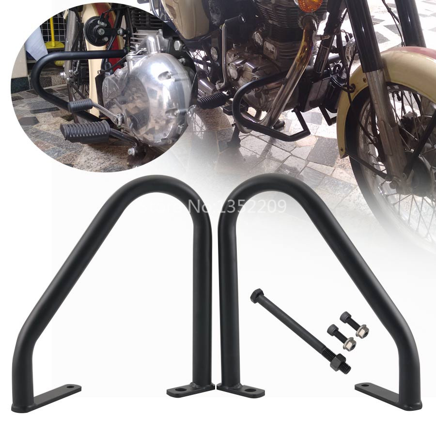 Universal Engine Guard Kit Fit For Royal Enfield Classic 500 Pegasus Stealth Black EMS Shipping