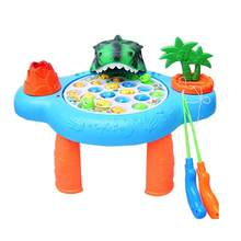 1pcs Electric Creative Funny Fishing Toy Set Rotating Fishing Toy Fishing Game for Baby Kid Child(China)