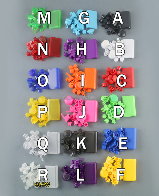 18 색상 옵션 l1 r1 l2 r2 트리거 버튼 ps4 pro 컨트롤러 용 ps4 4.0 jds 040 jdm 040 버튼 키트
