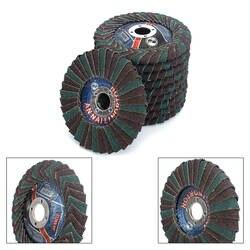 Диск с абразивным клапаном 4''x7/8 ''диск с абразивным клапаном, радиальные Форма, круглое отверстие, фенольной смолы, циркониевый, 5 шт