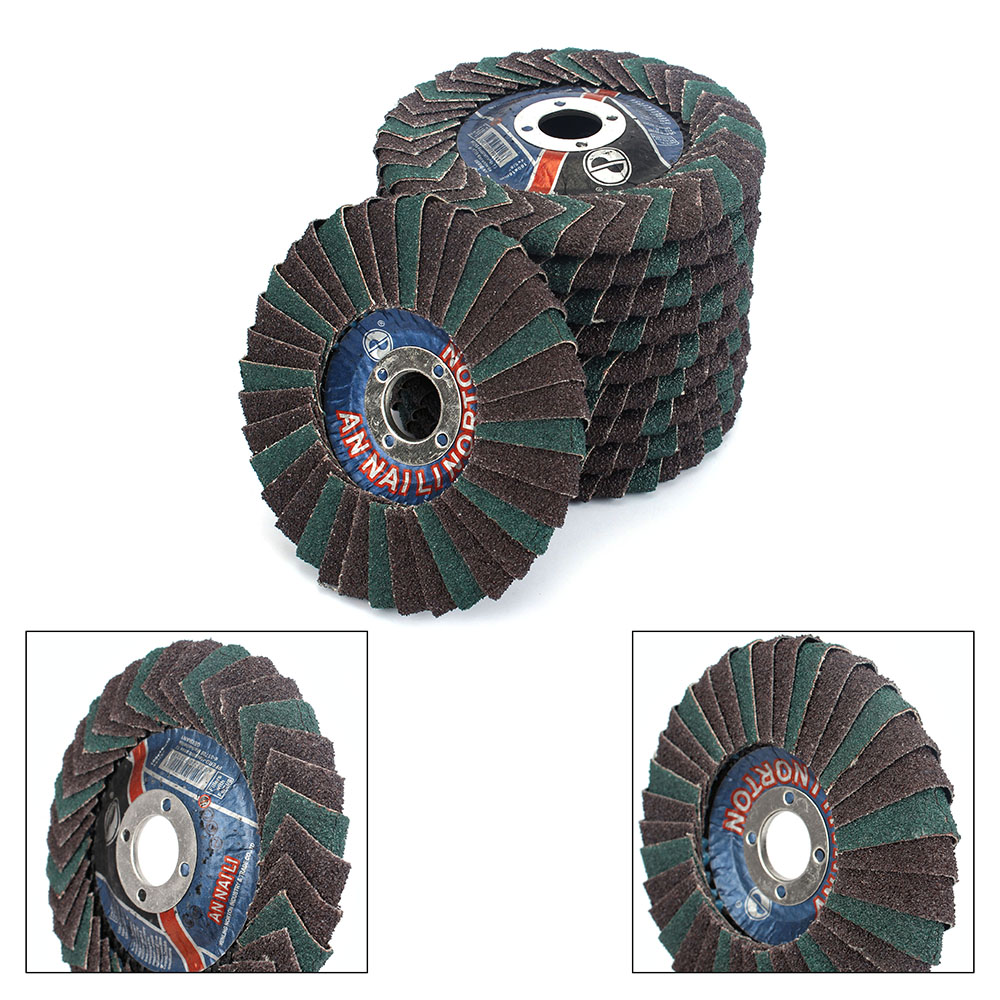 Abrasive Flap Disc 4''x7/8''Abrasive Flap Disc, Radial Shape, Round Hole, Phenolic Resin Backing, Zirconia Alumina,5Pcs