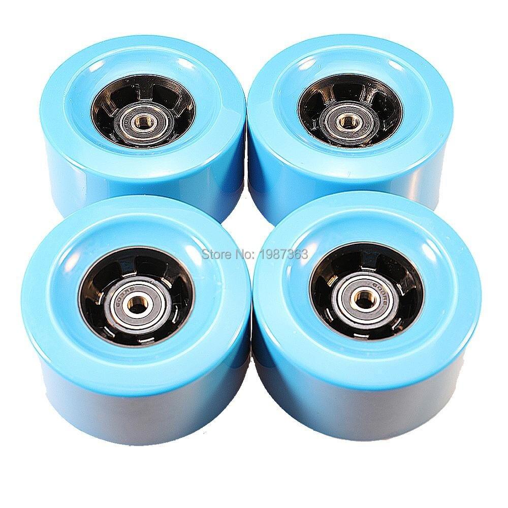 2pcs Skateboard Longboard Wheel 97*52mm 78AA 2pcs Bearing Included For DIY Electric Skateboard