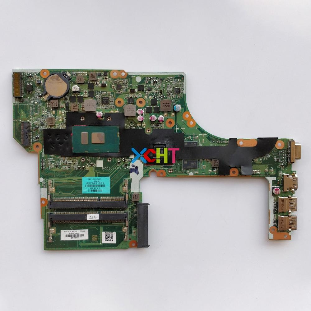 827026-001 827026-601 DA0X63MB6H1 W I7-6500U CPU W 2GB Graphics For HP ProBook 450 470 G3 NoteBook PC Laptop Motherboard