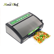 ITOP 220V/110V Household Food Vacuum Sealer Packaging Machine Film Sealer Vacuum Packer 1 Roll vacuum Bags Free 100 240v ac household vacuum sealer automatic food vacuum sealing machine packaging machine film packer 220v 110v eu us plug