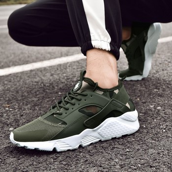 Spring/Winter Air Mesh Comfortable Army Green Male Shoes 1