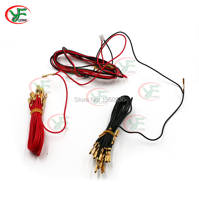 5V 12V illuminated light bulb Cable with 6.3mm or 2.8mm quick 2pin connector to USB encoder for Arcade joystick DIY /LED Button