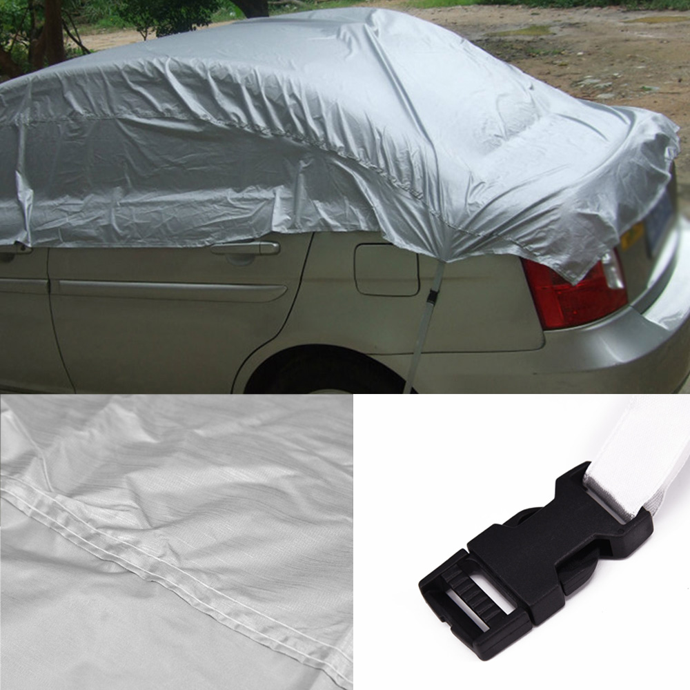 Half Car Cover Waterproof Outdoor Sun Uv Snow Dust Rain Resistant Protection Hot