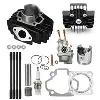 High Quality Carburetor For Yamaha Outboard For Yamaha PW 50 PW50 Carburetor Cylinder Piston Ring Gasket Top End Kit 1981 2009