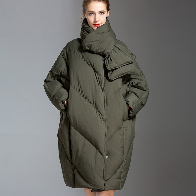 Korean Fashion   Down   Jacket Women large size winter new stylish thick white duck   down   oversize   down     coat     down   jacket for winter