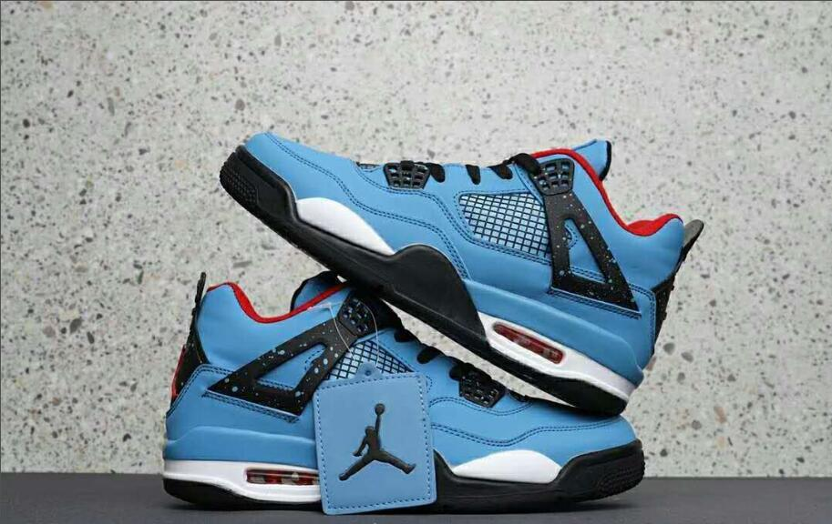pretty nice 43e48 9962f Jordan Air Retro 4 Iv Men s Jordan Basketball Shoes Bred Sky Blue Oreo  Joint Thunder Sports Outdoor Sports Shoes 40 46-in Basketball Shoes from  Sports ...