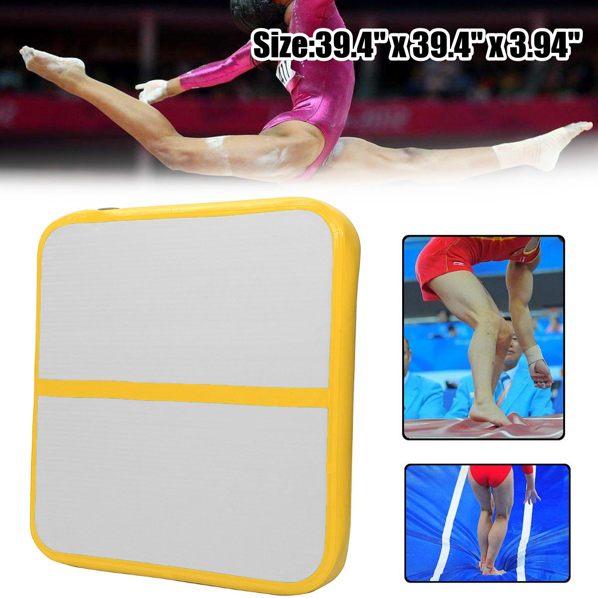 100x100x10cm Air Track Roller Floor Home Training Inflatable Gymnastics Tumbling Mat GYM for Kids100x100x10cm Air Track Roller Floor Home Training Inflatable Gymnastics Tumbling Mat GYM for Kids