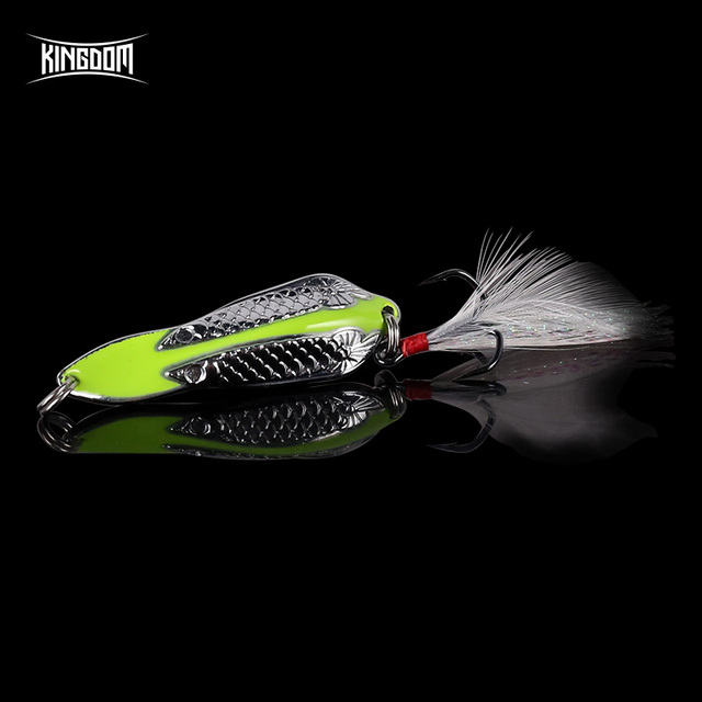 Kingdom Hot Metal Spoon For Fishing Lures 1PC Double Hole Spoon Artificial Baits High Quality Hard Bait Fishing Tackle 1
