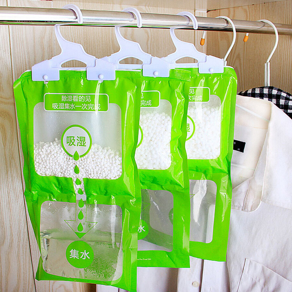 Hanging Moisture Absorbent Bags Closet Cabinet Dehumidifier Bag For Home Kitchen Bathroom Wardrobe Anti-Mold Desiccant Packets