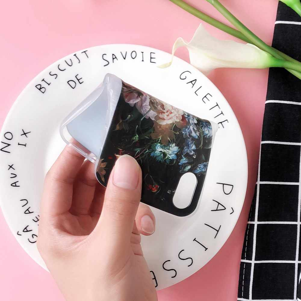 CASEIER Floral Oil Painting Phone Case For Huawei P20 P20 Lite P10 P9 P8 Lite Soft TPU Case For Honor 8 9 lite Funda Accesories