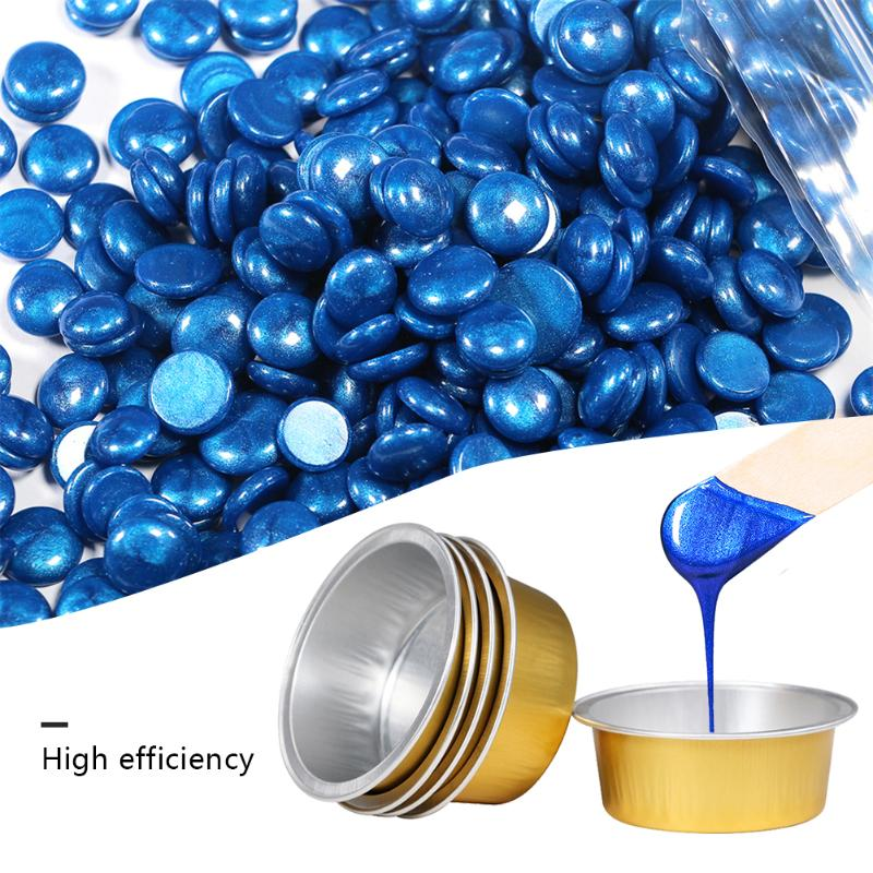 5/10 Gold Round Shape Melting Wax Bowl Aluminum Foil Hair Removal Bean Depilatory Cream Bowl  For Hot Film Hard Waxing Pellet