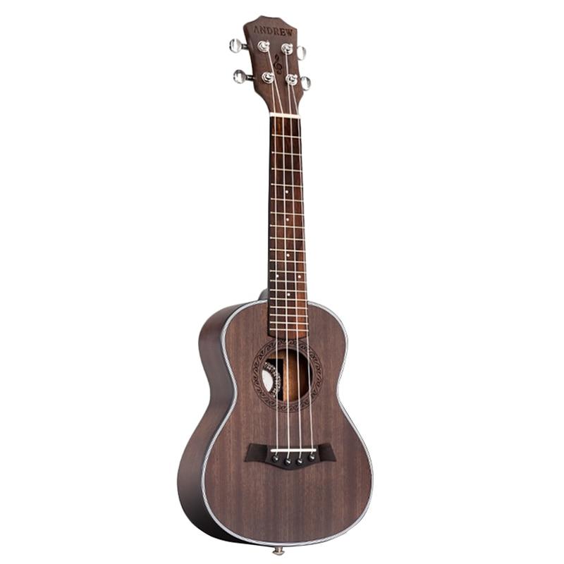 ANDREW ukulélé Concert ukulélé 23 pouces 4 cordes guitare hawaïenne acajou bois mat Uke Instrument à cordes